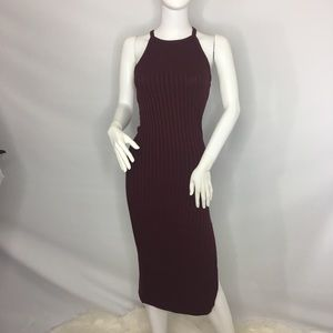 Dress with slit maroon size Petite Small